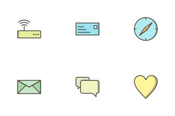 Basic UI Filled Outline Icon Pack