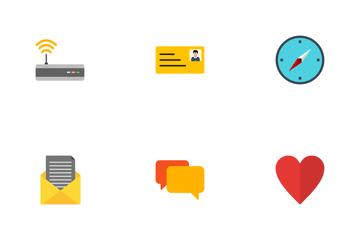 Basic UI Flat Icon Pack