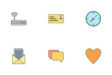 Basic UI Flat Outline Icon Pack