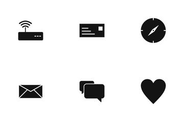 Basic UI Glyph Icon Pack