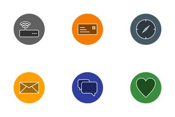 Basic UI Glyph Circle Icon Pack
