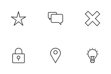 Basic UI Line Icon Pack