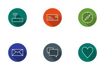 Basic UI Line Circle Icon Pack