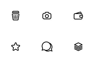 Basic UI Outline Icon Pack