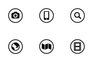 Basic Ui Round Solid Icon Pack