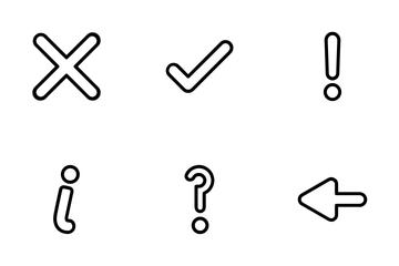 Basic Ui Set 1 Icon Pack