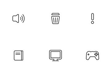Basic UI Thinline Icon Pack