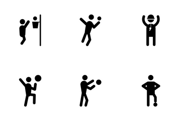 Basketball Glyph Icons Icon Pack