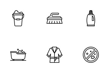Bathroom Essentials Icon Pack