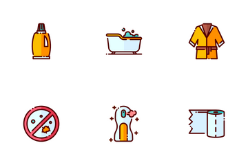Bathroom Essentials Icon Pack