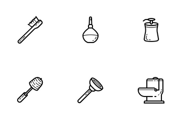 Bathroom (Outline) Icon Pack