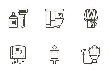 Bathroom Stuff Icon Pack
