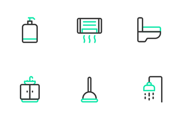 Bathroom & Toiletries Icon Pack