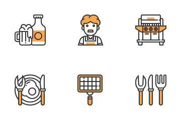 BBQ And Grill Icon Pack
