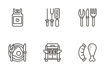 BBQ Party Icon Pack