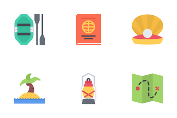Beach & Camping Icon Pack
