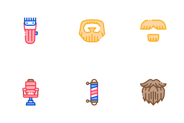 Beard And Mustache Icon Pack