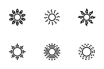 Beautiful Sun Icon Pack