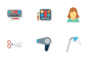 Beauty And Spa Colored Icon Pack