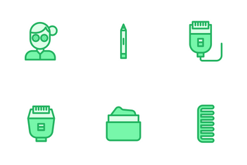 Beauty And Spa - Mono Lineal Icon Pack