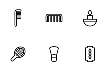 Beauty And Spa - Outline Icon Pack
