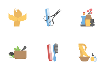 Beauty Equipment Icon Pack