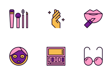Beauty & Fashion Color Icon Pack
