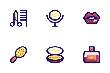 Beauty (Filled Line) Icon Pack