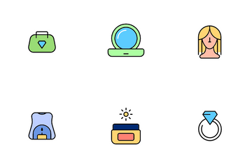Beauty Makeup Set Icon Pack