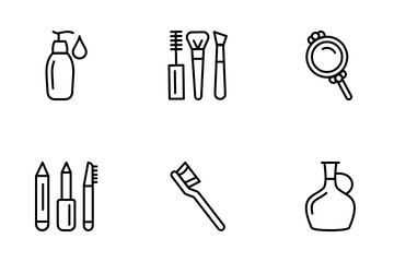 Beauty Salon, Makeup And Cosmetics Icon Pack