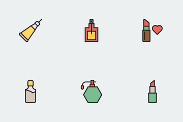 Beauty & Saloon Line Color Icon Pack