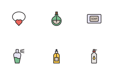 Beauty & Saloon Line Color Icons Icon Pack