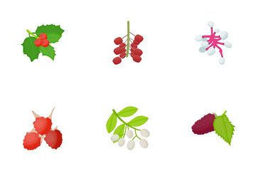 Berries Flat Icons Icon Pack