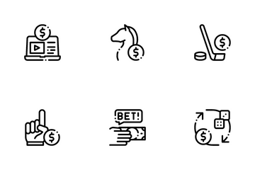 Betting And Gambling Icon Pack