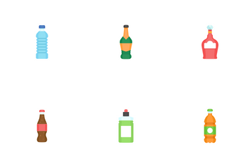 Beverage And Bottle Icon Pack