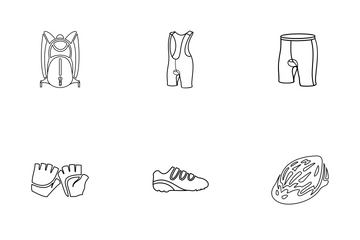 Bicycle Apparel Icon Pack