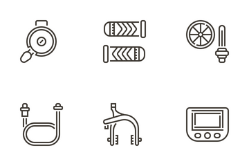 Bicycle Elements Icon Pack