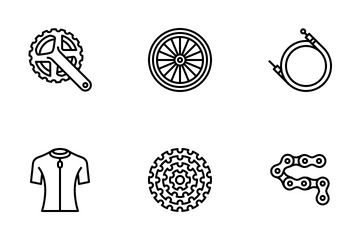 Bicycle Parts Icon Pack