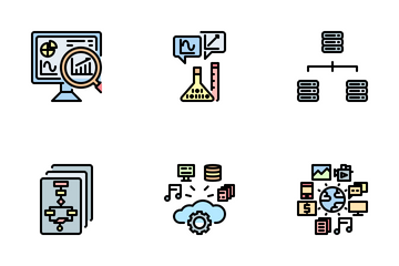 Big Data And Analytics Icon Pack
