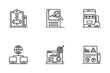 Big Data And Data Hosting Icon Pack