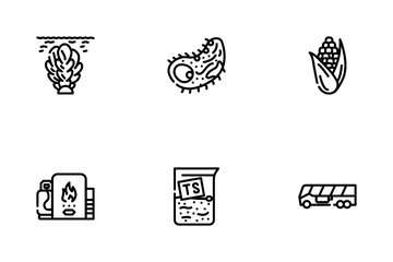 Biogas Energy Fuel Icon Pack