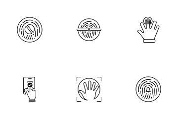 Biometric Identification Icon Pack