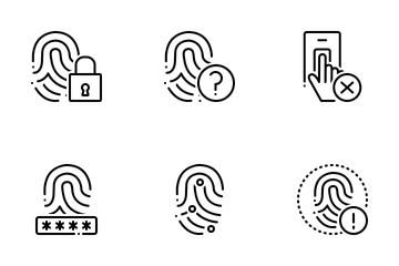 Biometrics New 1 Line Icon Pack