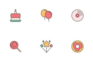 Birthday Celebration Icon Pack