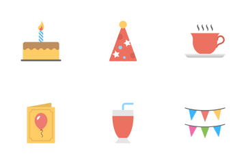 Birthday Flat Icons  Icon Pack