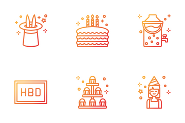 Birthday Party Icon Pack