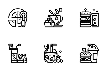 Bistro And Restaurant Icon Pack