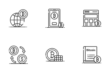 Bitcoin And Blockchain Icon Pack