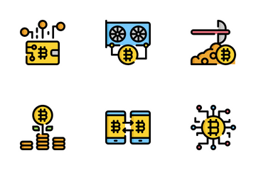 Bitcoin And Cryptocurrency Icon Pack