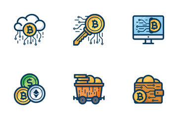 Bitcoin And Mining  Icon Pack